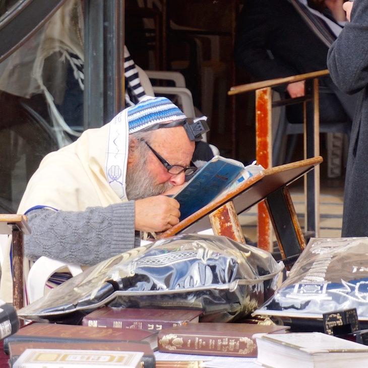Jewish Man Studying
