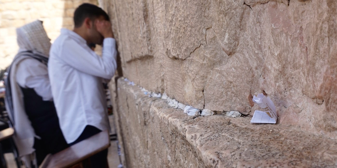 Man Praying Western Wall 3