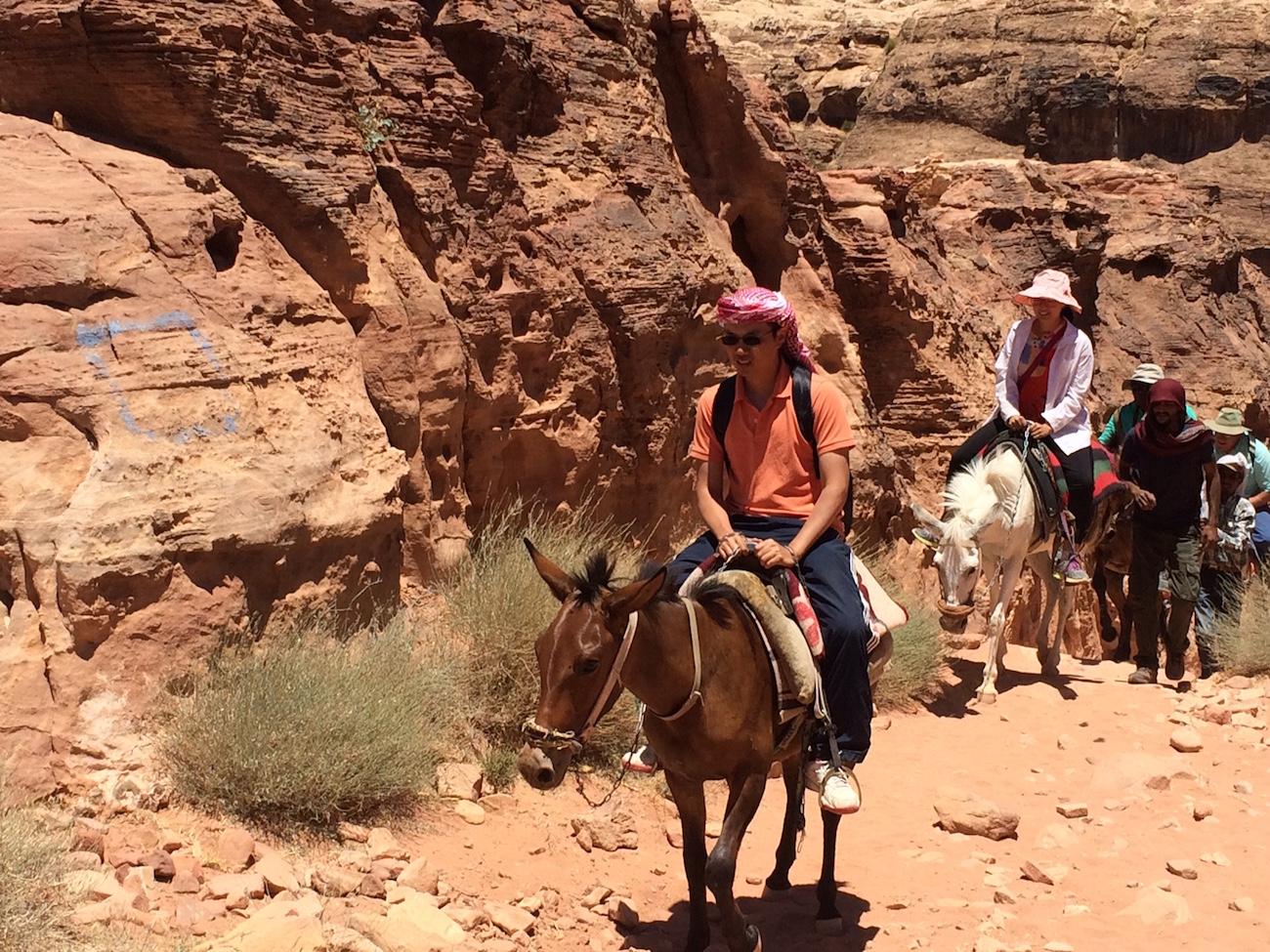 Student Jordan On Donkey 5
