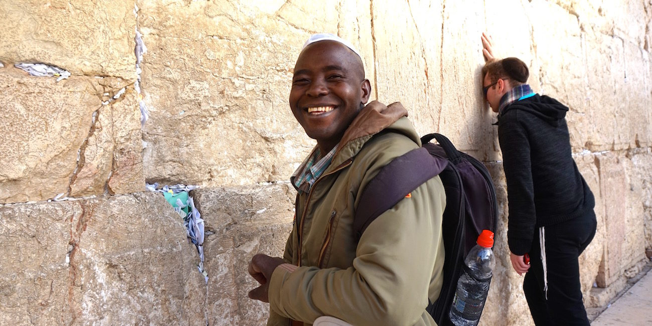Student Smiling Temple Mount