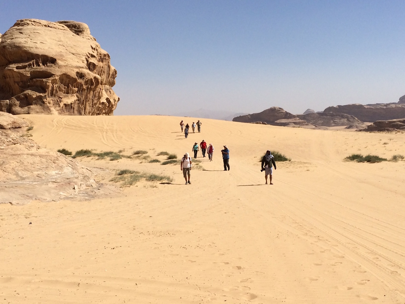 Students Jordan Hiking Desert 2
