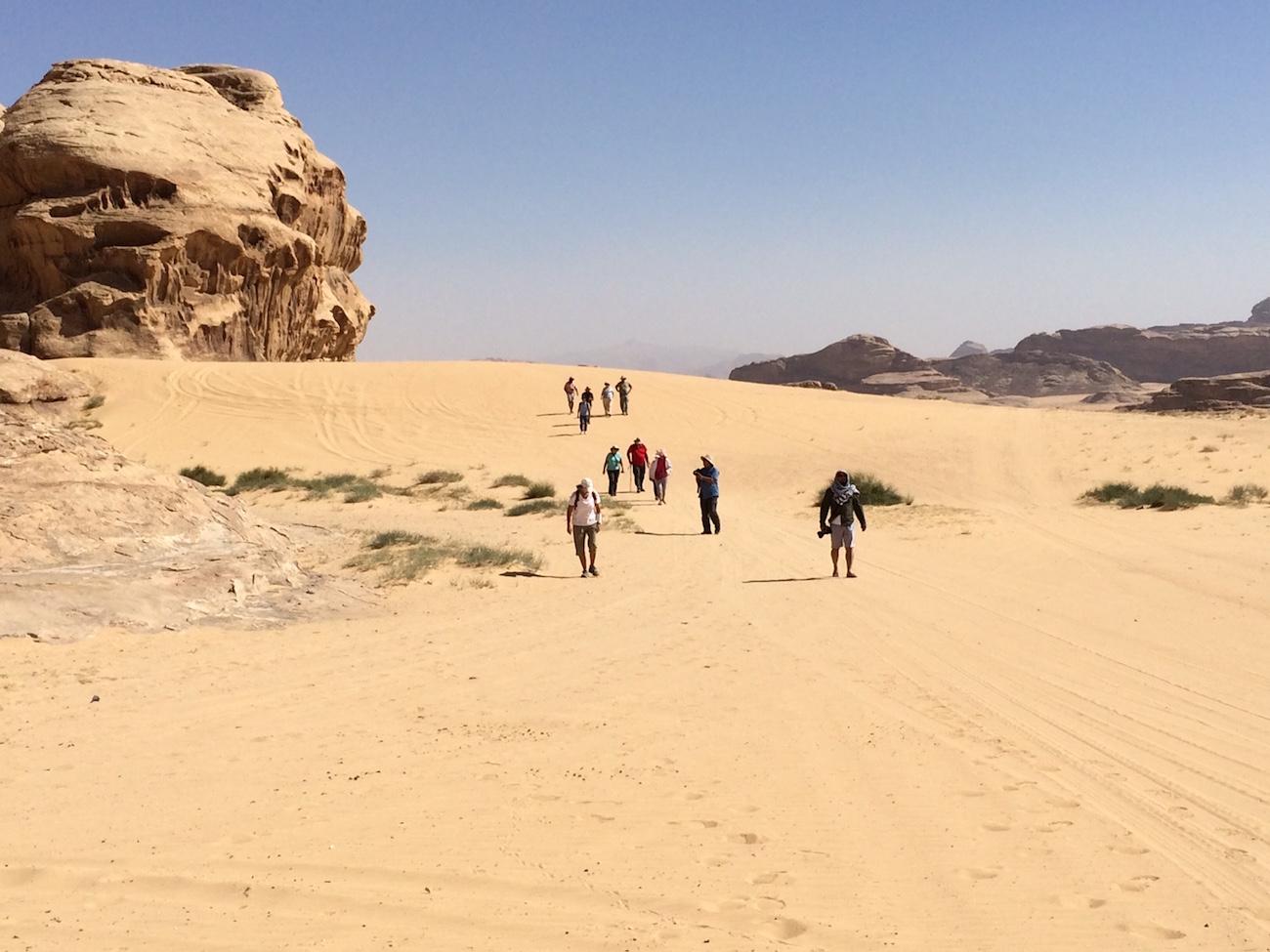 Students Jordan Hiking Desert 2